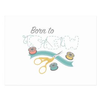 Born To Sew Postcard