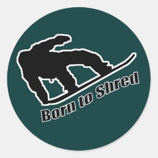 Born To Shred Classic Round Sticker