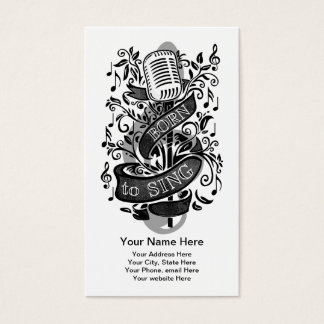 Born To Sing Business Cards 2