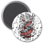 Born To Sing Gifts for the home 3 Inch Round Magnet