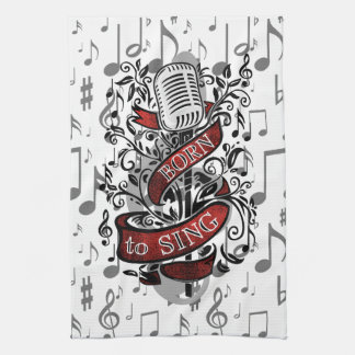 Born To Sing Gifts for the home Hand Towel