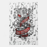 Born To Sing Gifts for the home Kitchen Towel