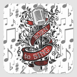 Born To Sing Stickers and cards