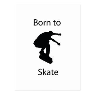 Born to skate postcard