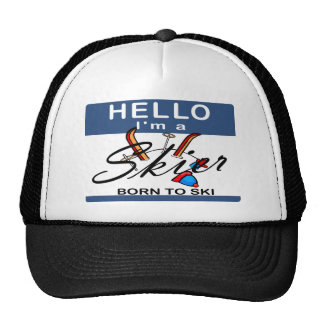 Born To Ski Trucker Hat