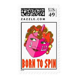 Born To Spin Dreidel Postage Stamp