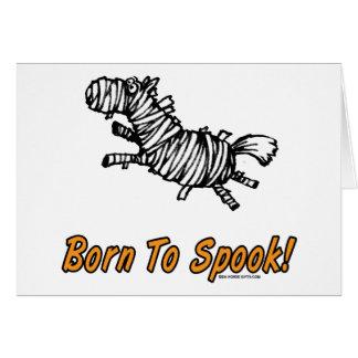 Born To Spook Halloween Horse! Card