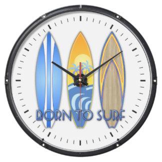 Born To Surf Fish Tank Clock