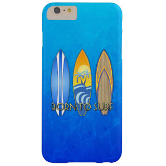 Born To Surf Barely There iPhone 6 Plus Case