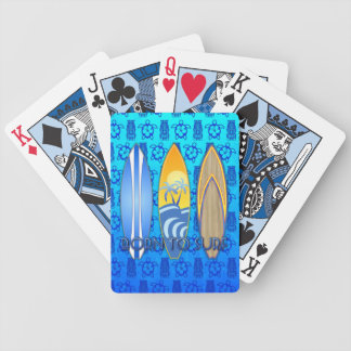 Born To Surf Bicycle Playing Cards