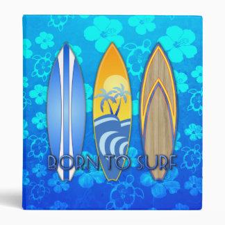 Born To Surf Vinyl Binders