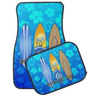 Born To Surf Blue Honu Car Floor Mat