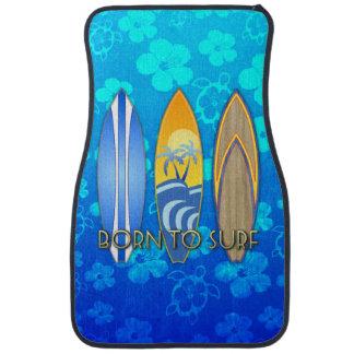 Born To Surf Blue Honu Car Mat