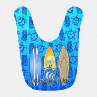 Born To Surf Blue Tiki Bibs