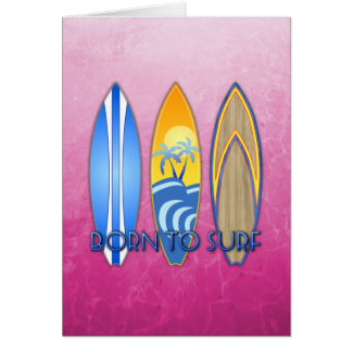 Born To Surf Cards