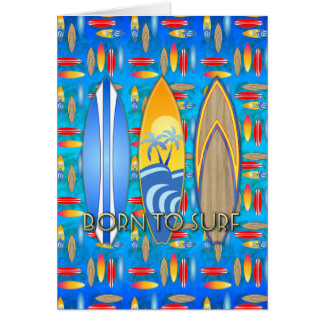 Born To Surf Card