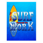 Born To Surf Forced To Work Postcard