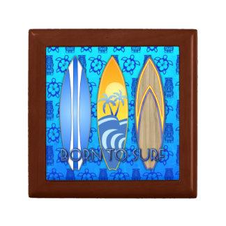 Born To Surf Jewelry Box