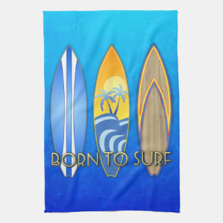 Born To Surf Hand Towel