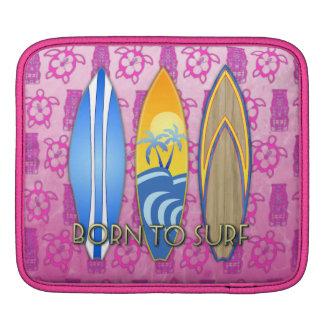 Born To Surf iPad Sleeves