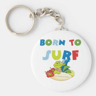Born to Surf Keychain