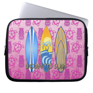 Born To Surf Laptop Computer Sleeves