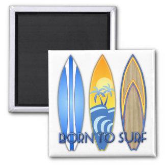 Born To Surf Fridge Magnets