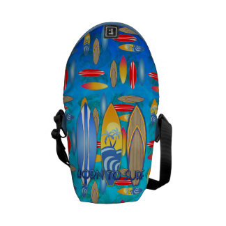 Born To Surf Courier Bag