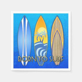 Born To Surf Standard Cocktail Napkin