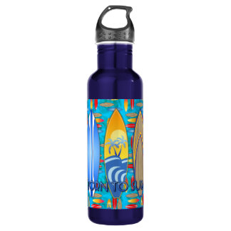 Born To Surf 24oz Water Bottle