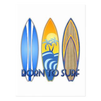 Born To Surf Post Card
