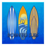 Born To Surf Poster