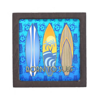 Born To Surf Premium Jewelry Boxes