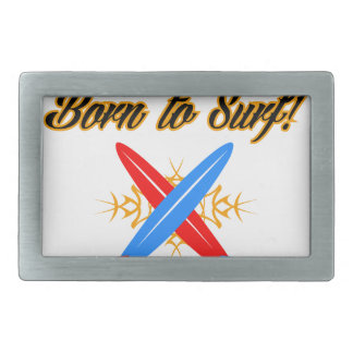 Born To Surf Rectangular Belt Buckle