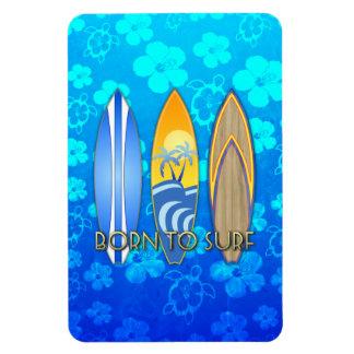 Born To Surf Rectangular Photo Magnet