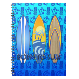 Born To Surf Spiral Notebook