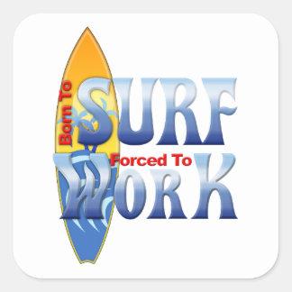 Born To Surf Square Sticker