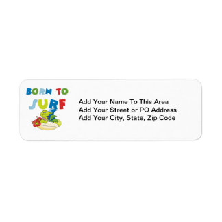 Born to Surf T-shirts and Gifts Custom Return Address Labels