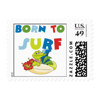 Born to Surf T-shirts and Gifts Postage Stamps