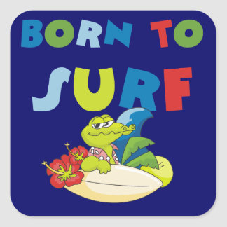 Born to Surf T-shirts and Gifts Sticker