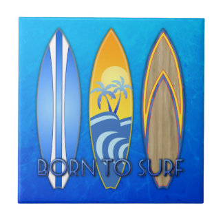 Born To Surf Tile