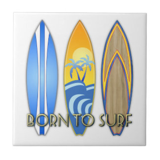 Born To Surf Tiles