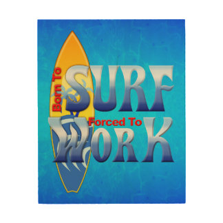Born To Surf Wood Wall Art
