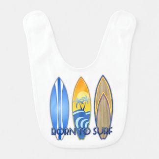 Born To Surf Baby Bibs