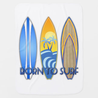 Born To Surf Swaddle Blankets