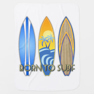 Born To Surf Swaddle Blanket