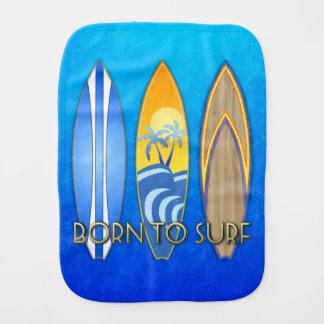 Born To Surf Baby Burp Cloth