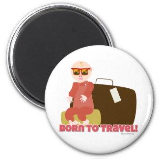 Born to Travel Fridge Magnet