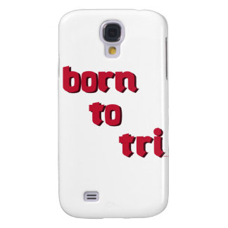 """""""born to tri"""" red logo products samsung galaxy s4 cover"""