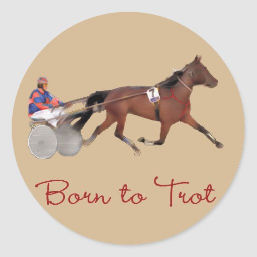 Born to Trot Classic Round Sticker